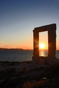 Porte du temple dédié à Apollon - Naxos - Grèce