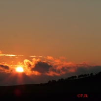 Coucher de soleil en Picardie