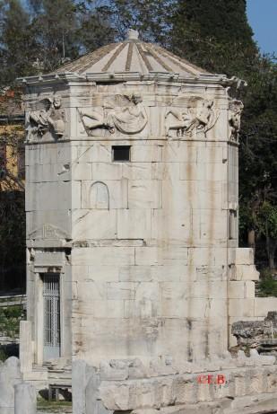 cadran solaire Athènes - Tour des Vents